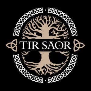 TÍR SAOR Logo mit schwarzem Hintergrund