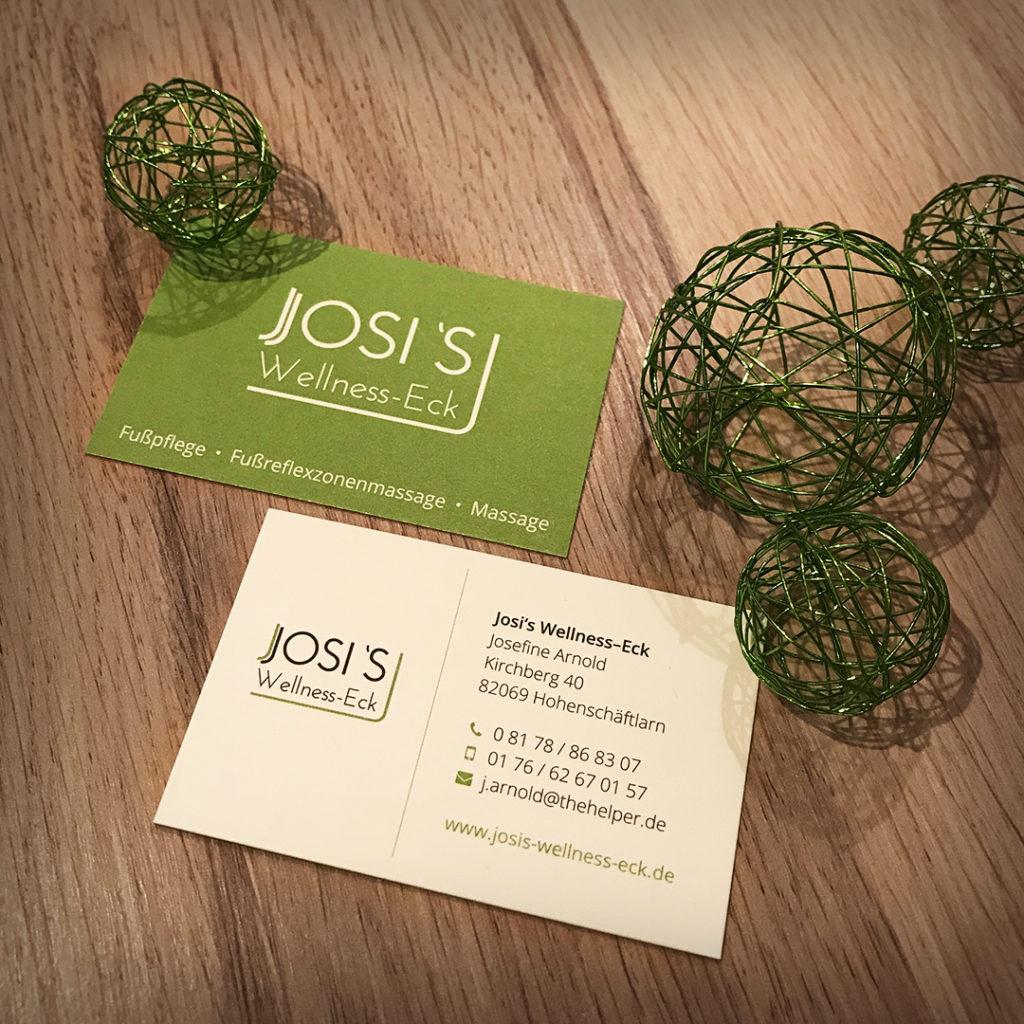 Josi's Wellness-Eck Visitenkarten